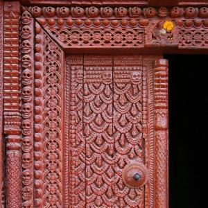 Porte d'entrée du kumari ghar